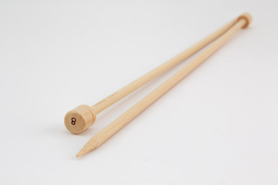 Knitting Equipment Bamboo 12quot Singlepoint Knitting Needles Size 8