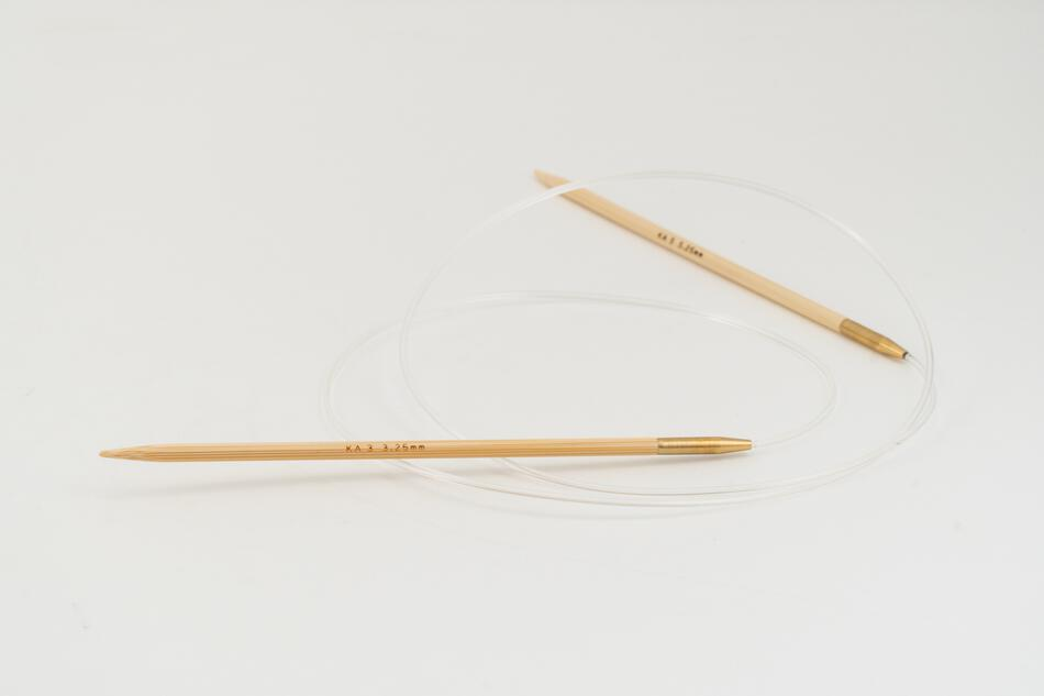 Knitting Equipment 36quot Circular Bamboo Knitting Needles Size 3 Shirotake by KA Seeknit