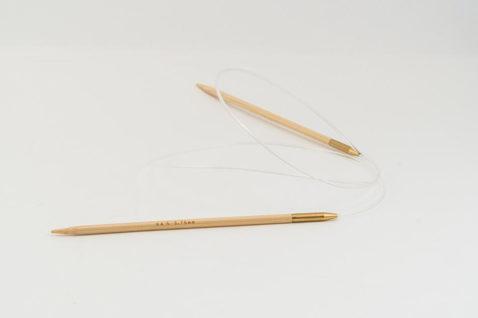 Knitting Equipment 36quot Circular Bamboo Knitting Needles Size 5 Shirotake by KA Seeknit