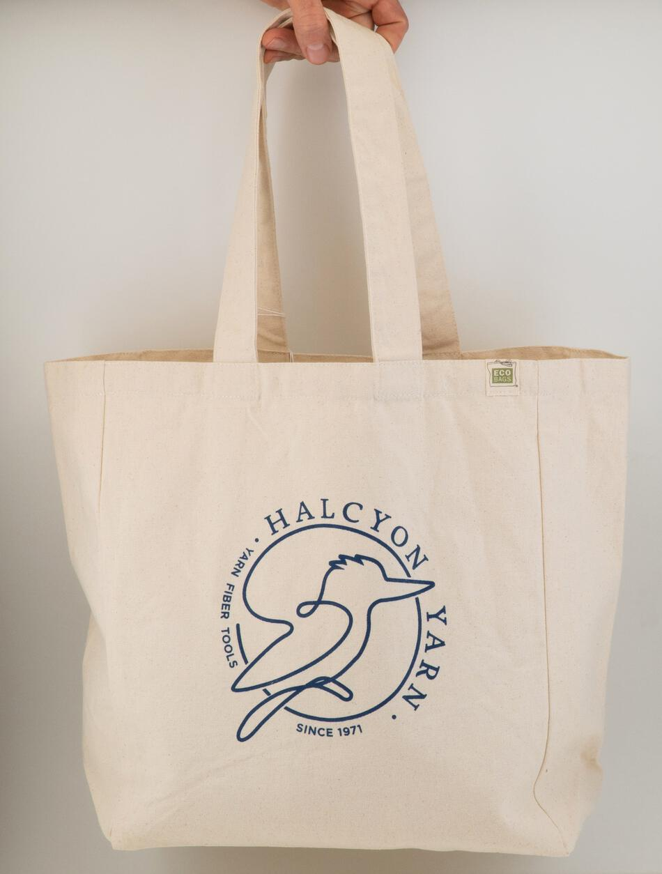 MultiCraft Equipment Halcyon Yarn Logo Recycled Cotton Tote wPocket