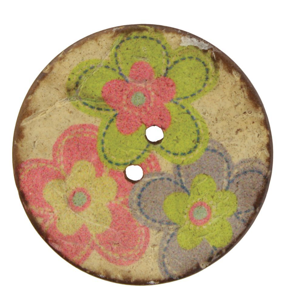 MultiCraft Equipment Coconut Multi Flower 1 12quot Button