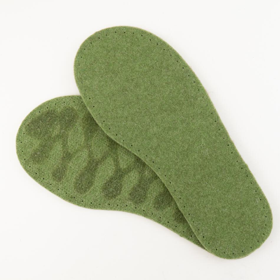 MultiCraft Equipment Childrenaposs Thick Felt Slipper Soles wLatex Grip 775quot  Green