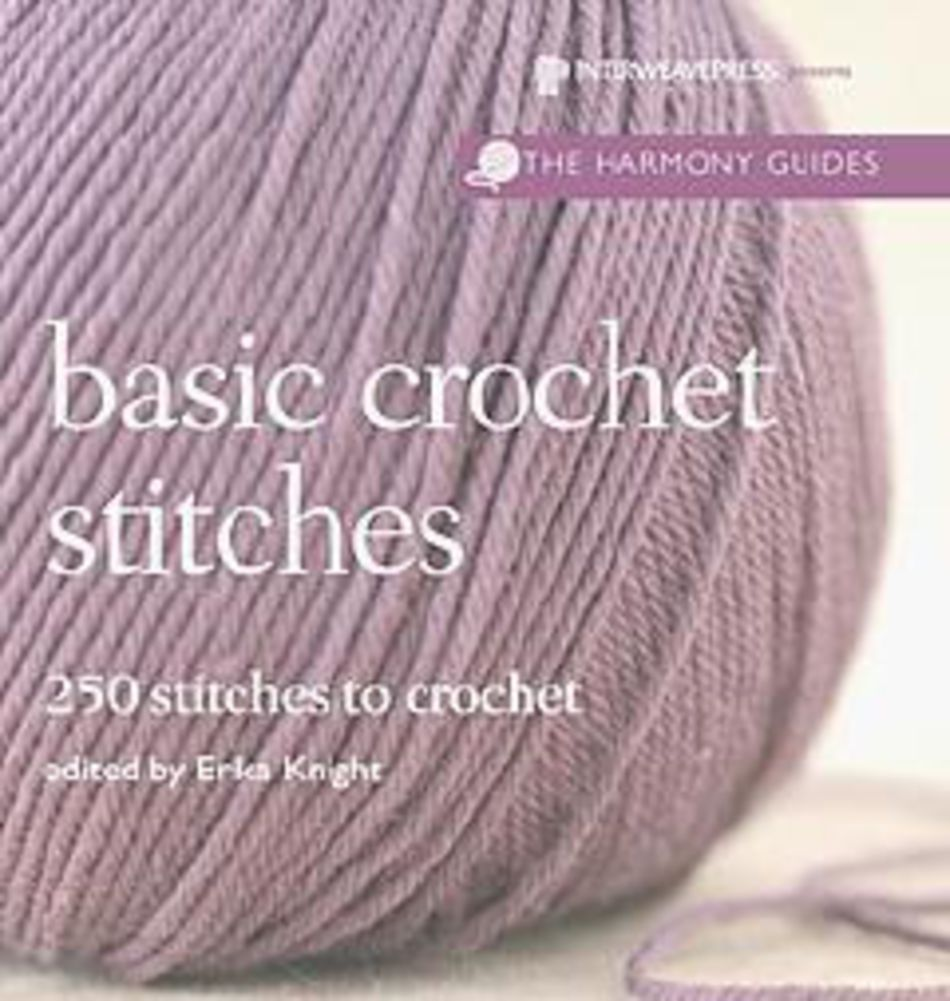Harmony Guide: Basic Crochet Stitches, Crochet Book - Halcyon Yarn