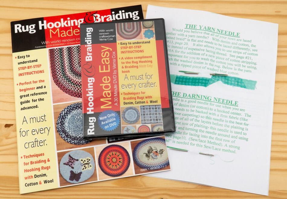 Rug Making Kits Hooking and Braiding with Denim Jeans or Cotton Kit