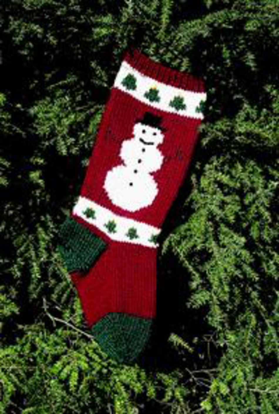 Snowman Christmas Stocking Kit, Knitting Kit - Halcyon Yarn