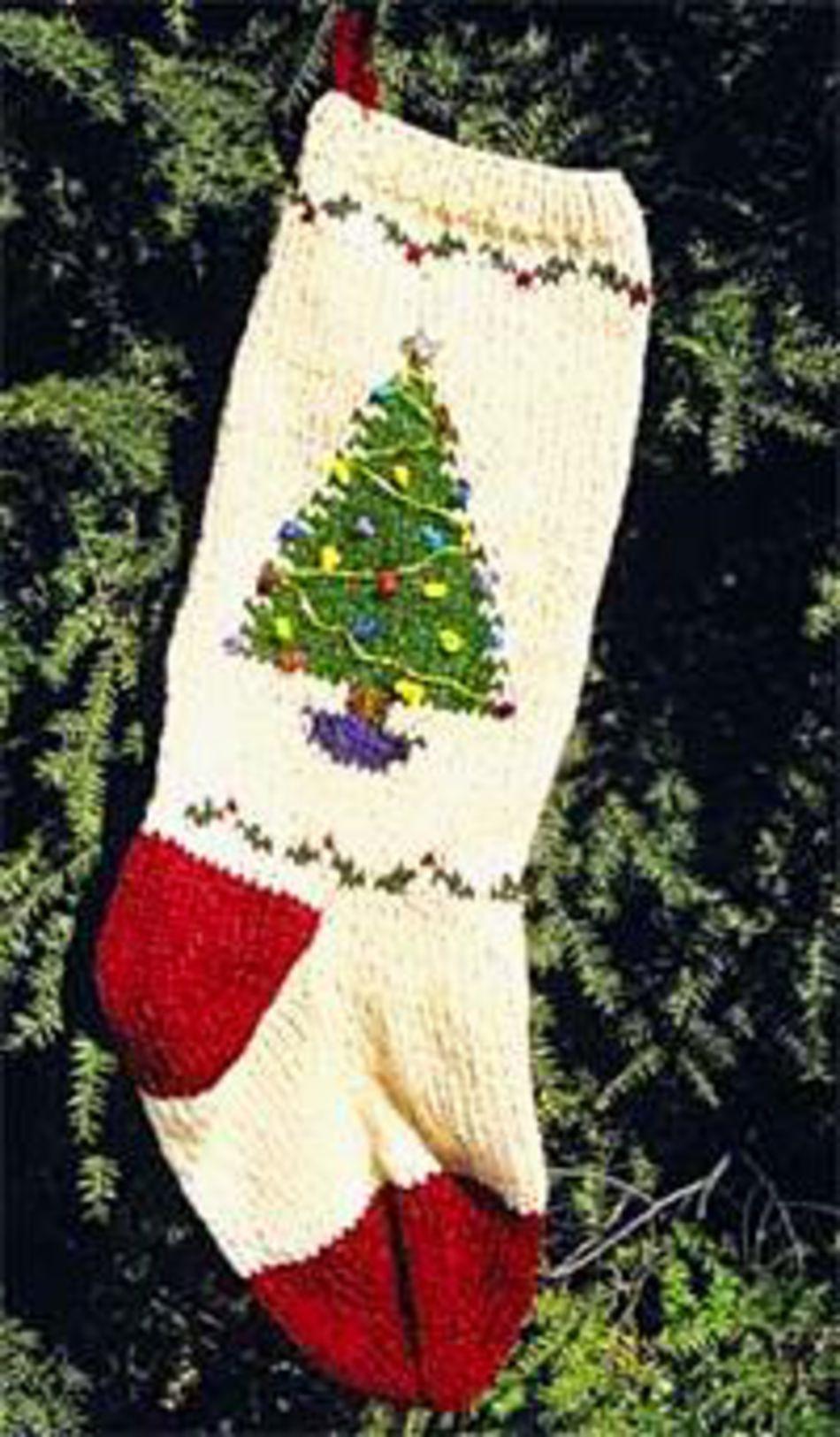 Christmas Tree Stocking Kit, Knitting Kit - Halcyon Yarn