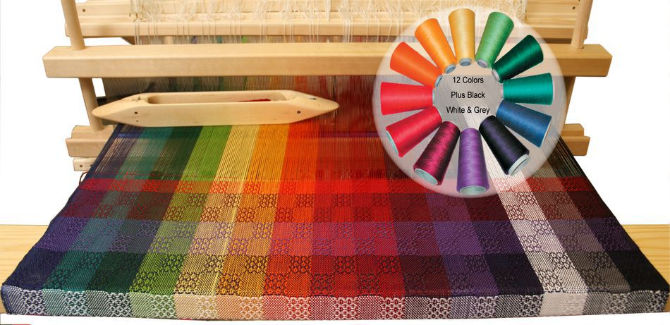 Weaving Kits Color Gamp  A Study in Color and Weave Kit 102 Pearl Cotton  Revised