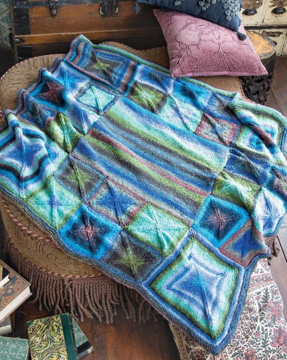 Knitting Kits Perfectly Square Throw Blanket in Noro Taiyo color A