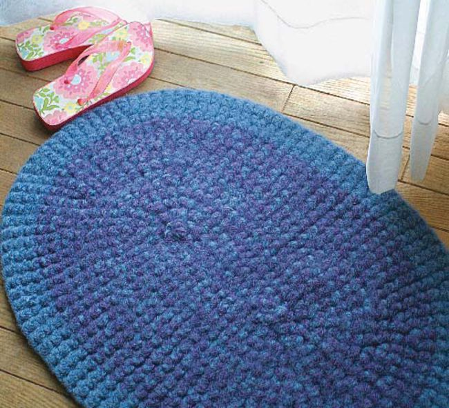 Free Knitted Placemat Patterns : Crochet Rug - Halcyon Classic Rug Wool, Crochet Pattern - Halcyon Yarn