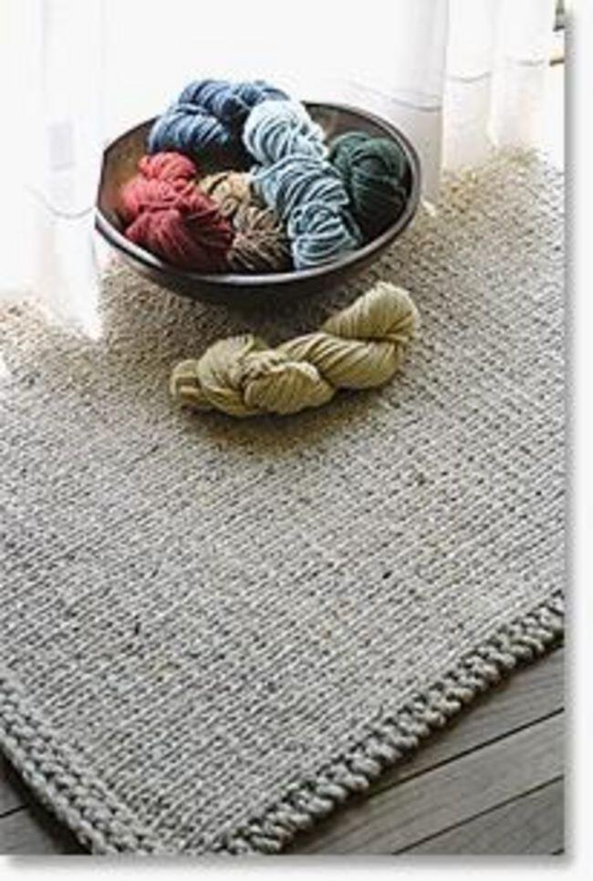 Knitted Rectangular Rug - Halcyon Classic Rug Wool, Knitting Pattern - Halcyo...