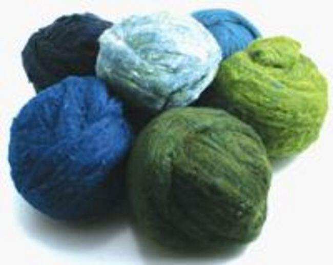 Peace Fleece Batting Bundles Greens/Blues