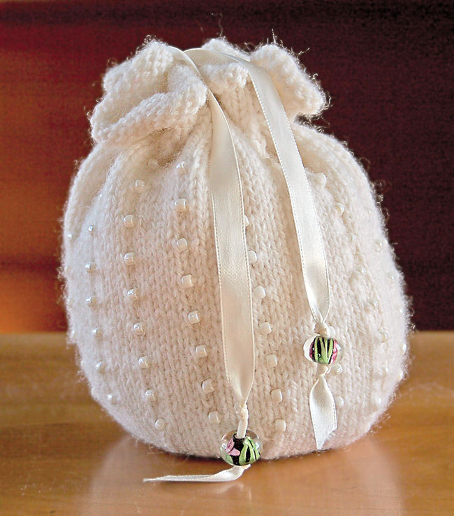 Beaded Bag Kit  - White