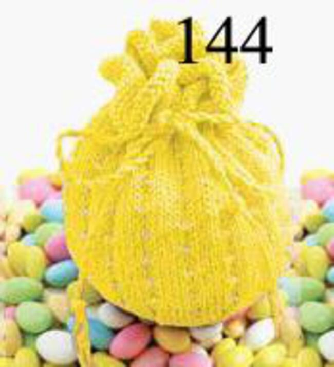 Jelly Bean Beaded Bag Kit - Yellow