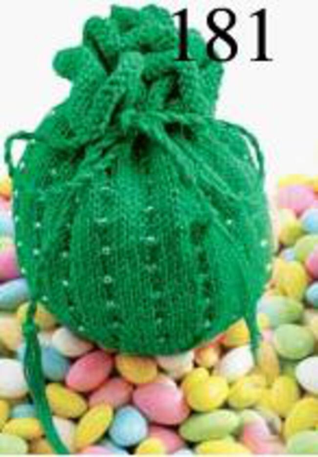 Jelly Bean Beaded Bag Kit - Christmas Green