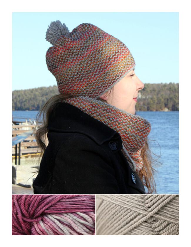 Telephone Line Set - Hat and Cowl Kit - Lotus