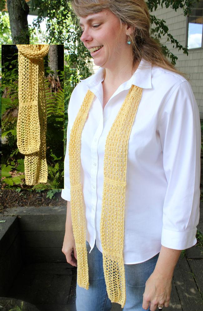 Gathered Honeycomb Scarf - DK weight, Knitting Pattern - Halcyon Yarn, Qualit...