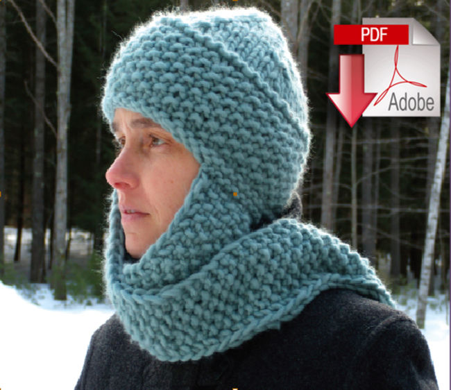 Free Knitting Pattern Hat With Bulky Yarn : The Cuddler - Super Bulky Weight - Pattern download ...