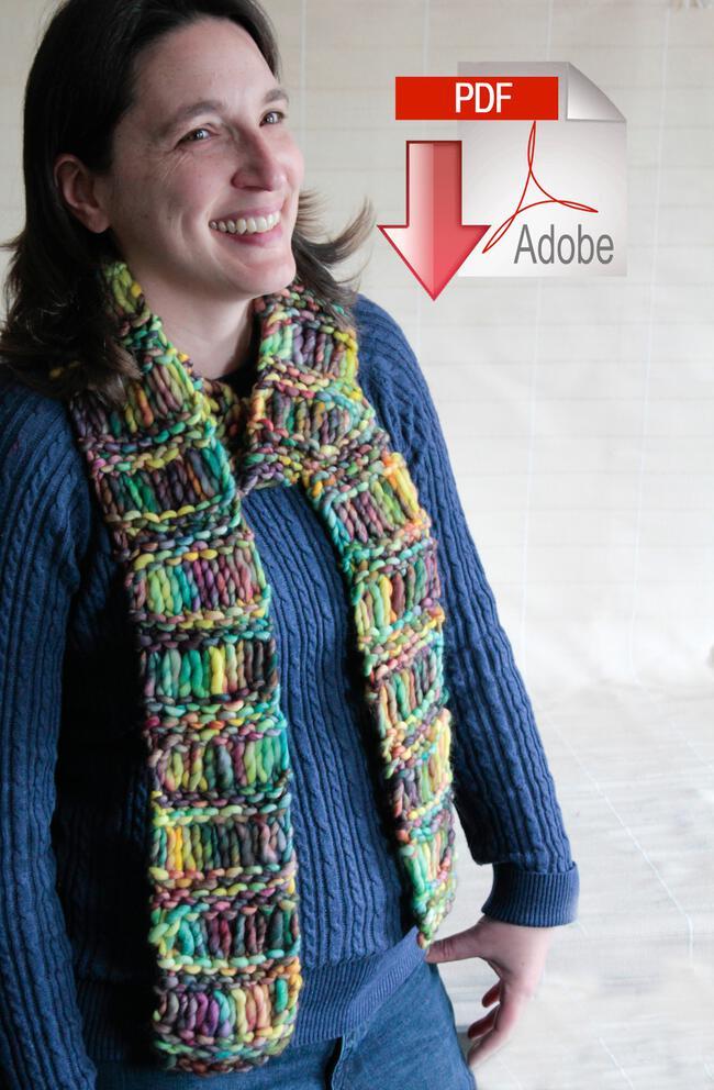 Drop Stitch Scarf - PDF Pattern Download, Knitting Pattern - Halcyon Yarn