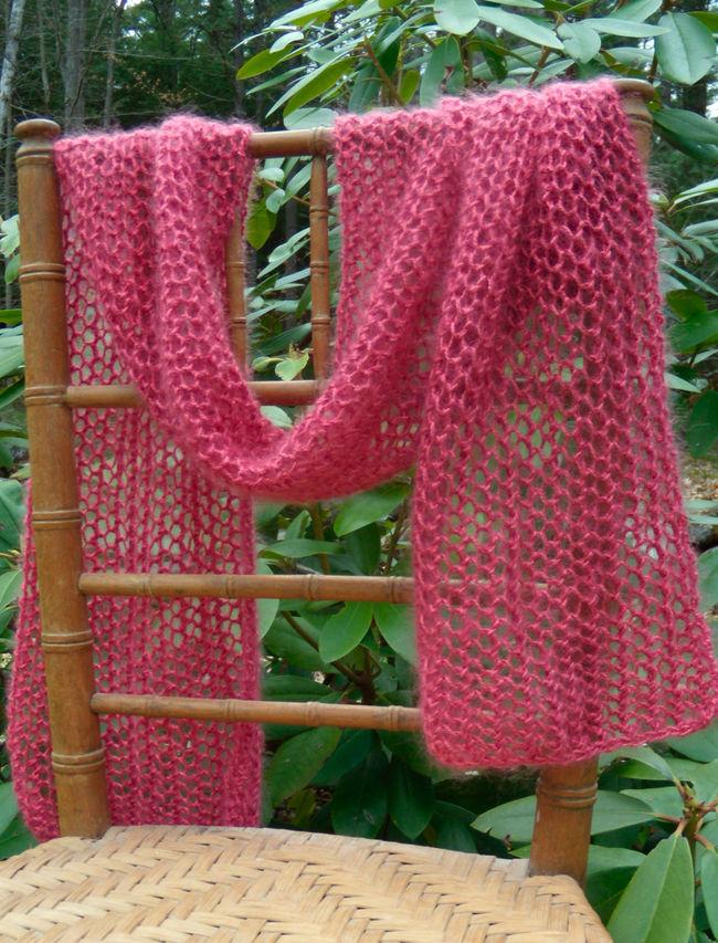 Silky Honeycomb Scarf
