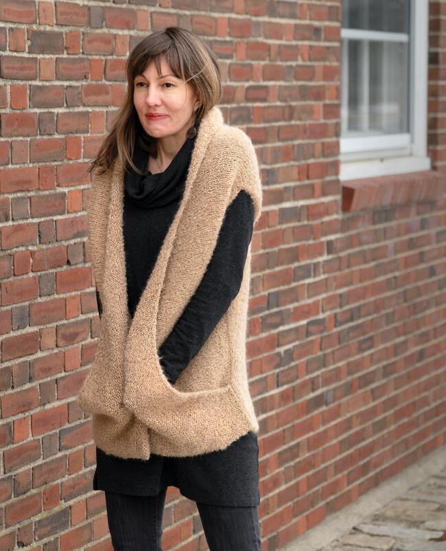 Boucle Cocoon Vest Pattern