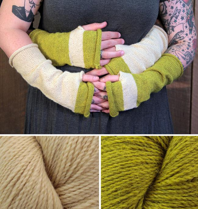 Whole Wide World - Fingerless Mitts Kit (Green)