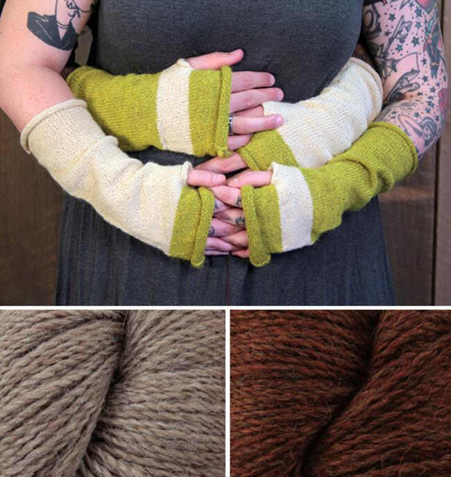 Whole Wide World - Fingerless Mitts Kit (Spice)