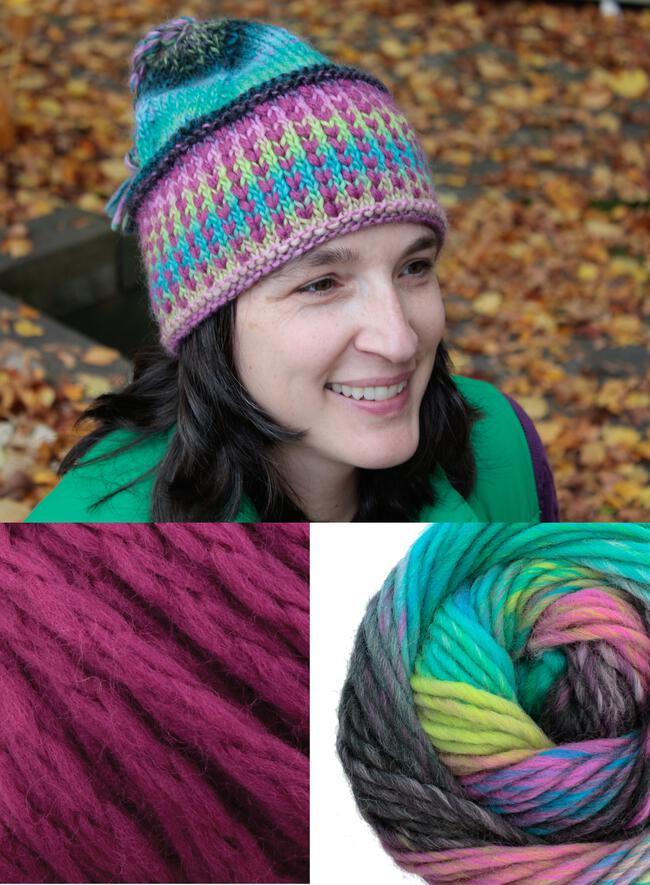 Alpine Topper Hat Kit - multi w/fuchsia