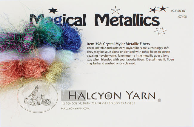 Magical Metallics -  Lurex Fiber for Felting and Spinning - Sample Card