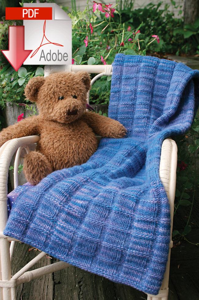 Malabrigo Baby Blanket Pattern - Medium Weight - Pattern download, Knitting P...