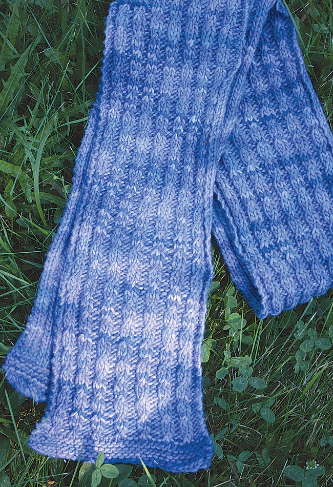 Knitting Pattern Yrn : Malabrigo Mock Cable Scarf Pattern - Medium Weight Yarn ...