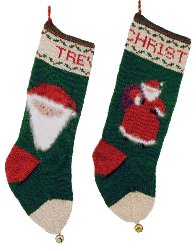 Santa Christmas Stockings - Yankee Knitter