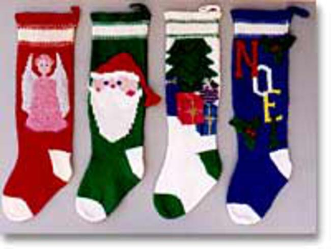 Knitted Christmas Stocking 1018