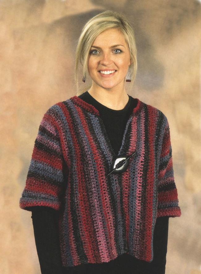 Knitting Patterns Jackets : Crochet Side to Side Jacket, Knitting Pattern - Halcyon Yarn