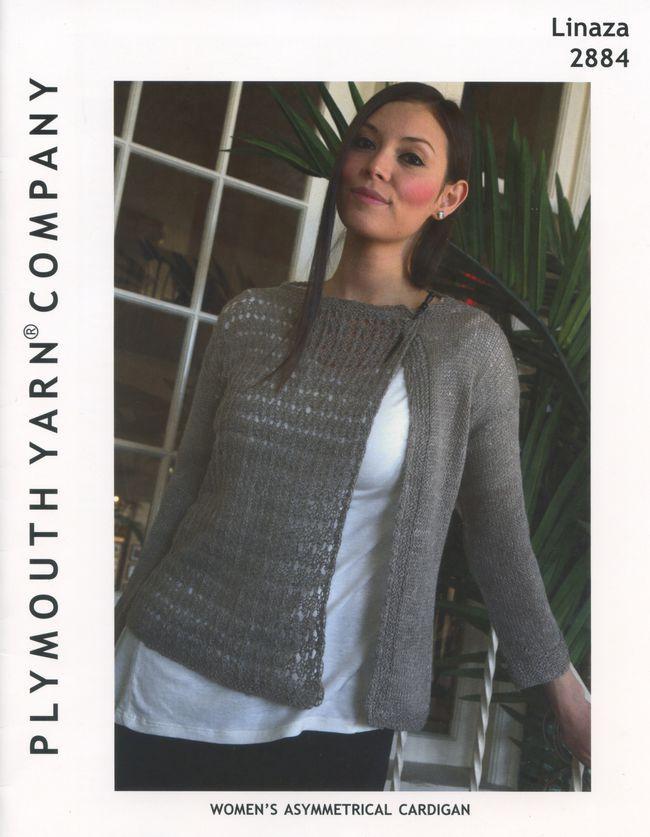 Linaza Womens Asymmetrical Cardigan, Knitting Pattern - Halcyon Yarn