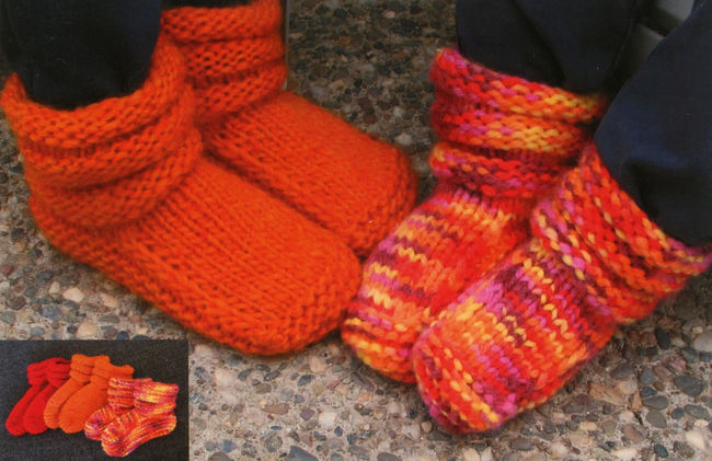 Childrens Mukluk Slippers by Knitting Pure and Simple ...