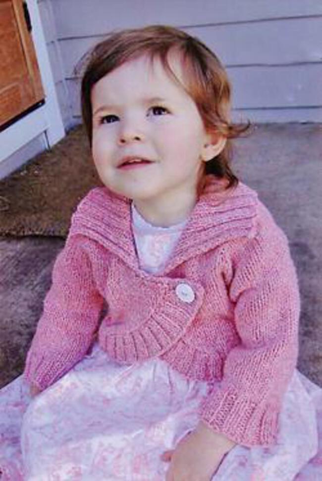 Child Bolero Knitting Pattern : Childrens Neckdown Bolero, Knitting Pattern - Halcyon Yarn