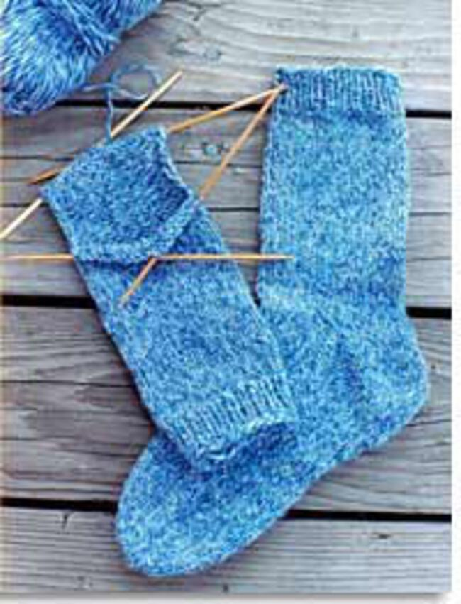 Simple Sock Knitting Patterns Beginner : Beginner Socks by Knitting Pure and Simple, Knitting Pattern - Halcyon Yarn
