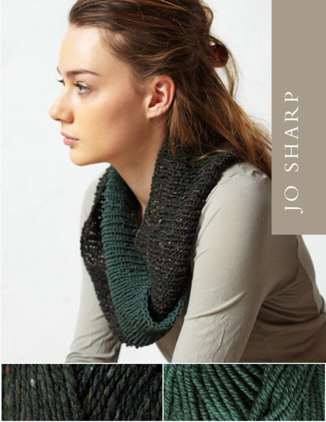 Jo Sharp Rib Twist Cowl Kit - Cedar/Remedy