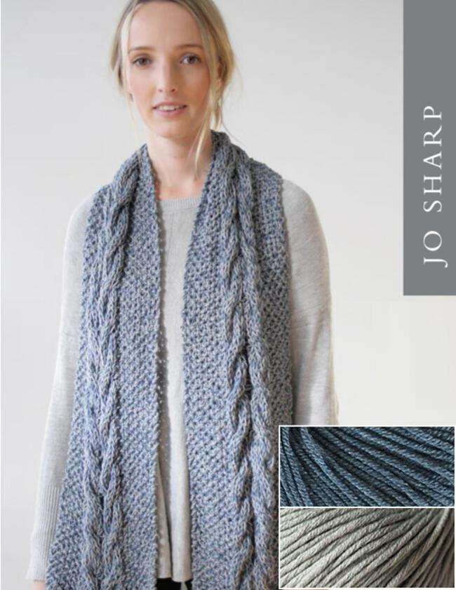 Jo Sharp Audrey May Scarf Kit - Fog
