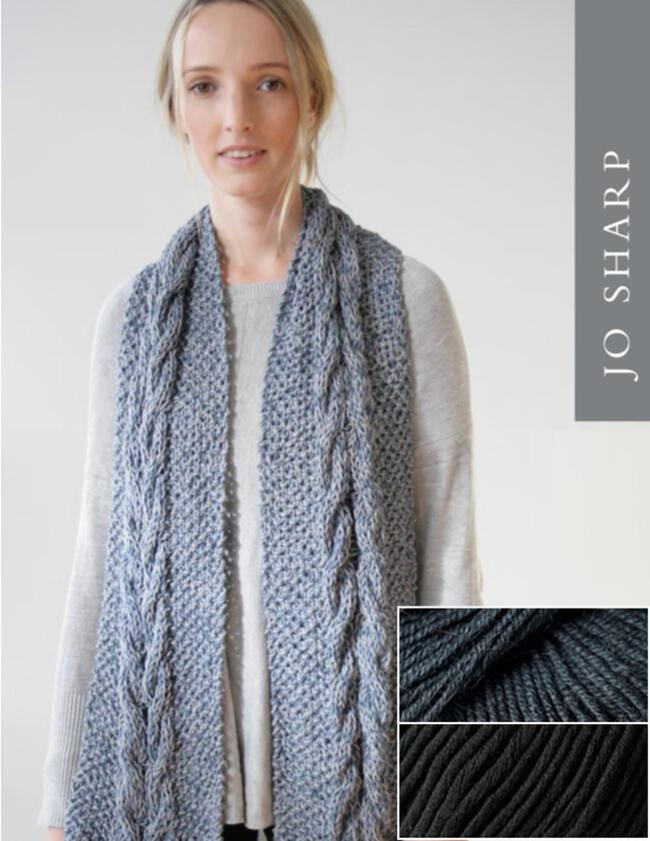 Jo Sharp Audrey May Scarf Kit - Pebble