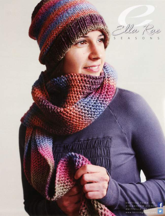 Beanie and Scarf - Ella Rae Seasons