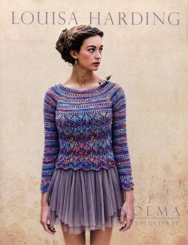 Knitting Patterns For Flutterby Wool : Noema Flutterby Pullover, Knitting Pattern - Halcyon Yarn