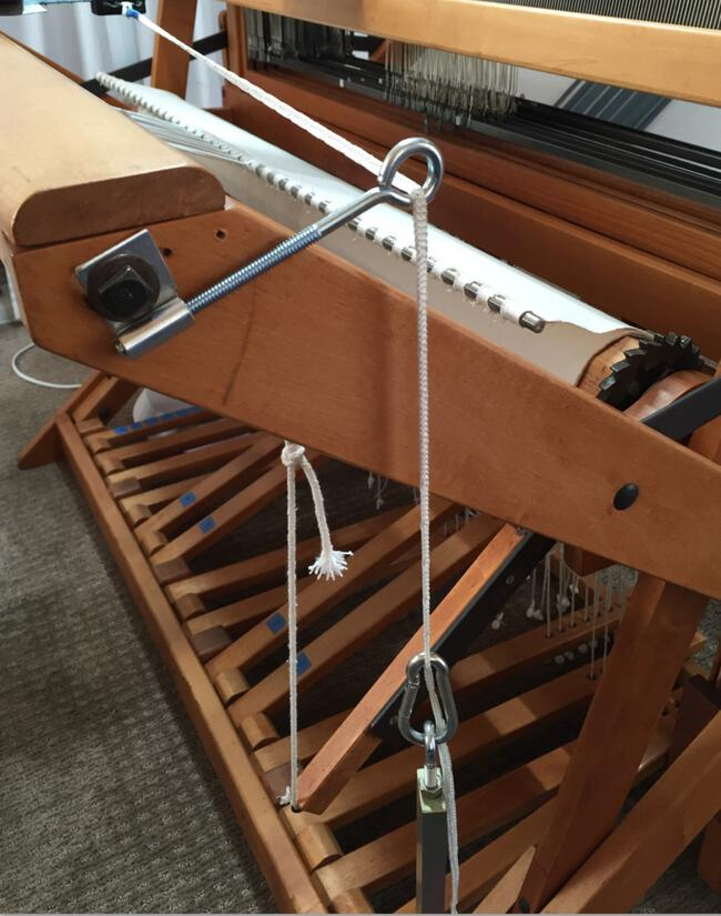 Add a Leclerc Clip Temple to your X-frame loom.