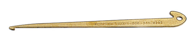 Halcyon's Engraved Brass Hook for threading and sleying