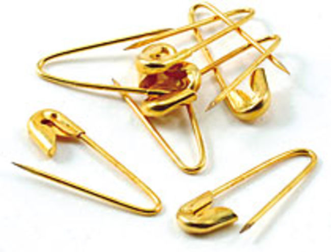 Brass Coiless Safety Pins