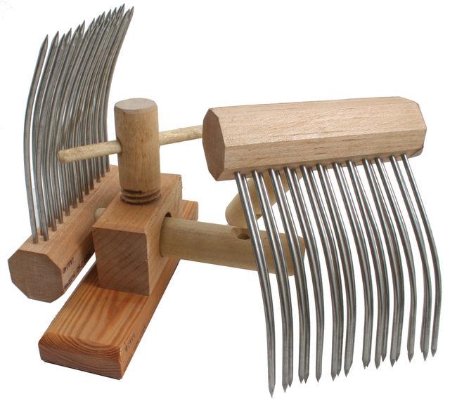 Indigo Hound Viking Combs, Double-Row