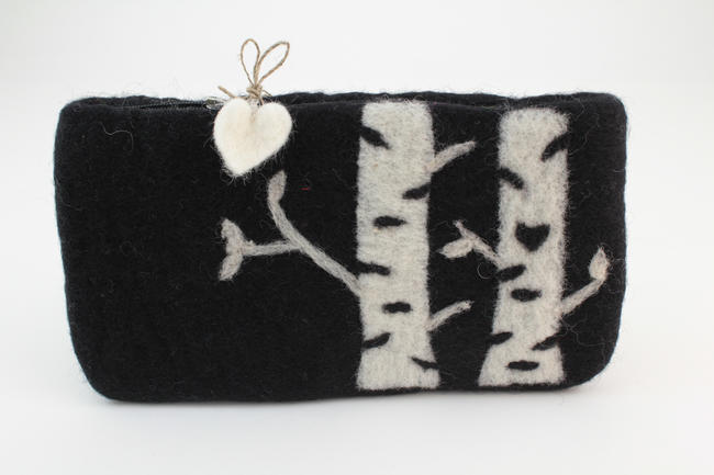 Birch Felt Bag - Black