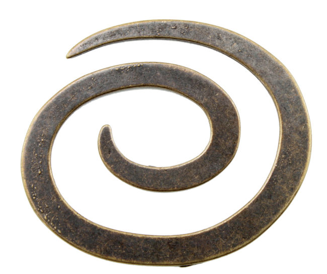"Antique Brass Metal 2"" Spiral Closure"