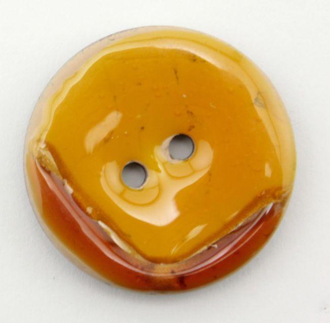 """Amber Coco Boomerang 1 1/8"""" Button"""