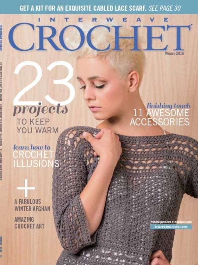 Interweave Crochet Winter 2016, Crochet Magazine - Halcyon Yarn